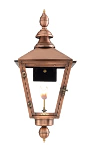 Charleston Wall Mount Copper Lantern by Primo