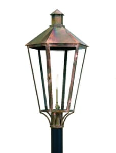 6 Sided Contempo Lantern by Copper Sculptures