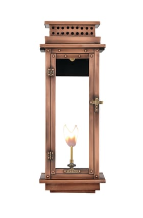 Nouveau Wall Mount Copper Lantern by Primo