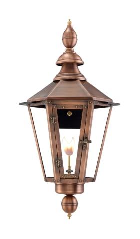 Vicksburg Wall Mount Copper Lantern by Primo