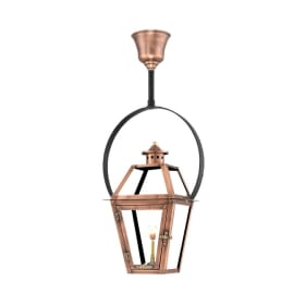 Orleans Hanging Yoke Copper Lantern by Primo