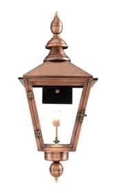 Charleston Gas Wall Mount Copper Lantern by Primo