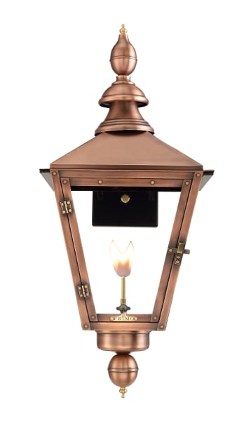 Charleston Gas Wall Mount Copper Lantern by Primo