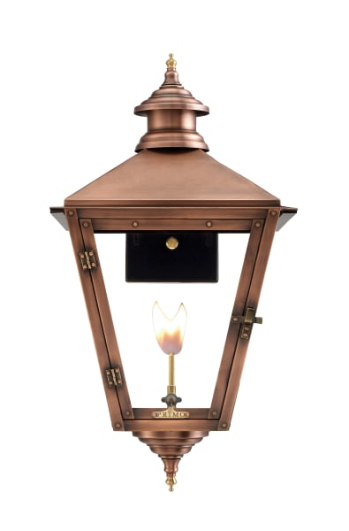 Savannah Wall Mount Gas Copper Lantern by Primo