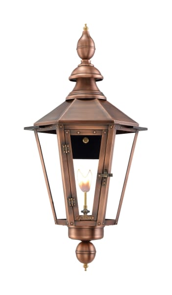 Vicksburg Wall Mount Gas Copper Lantern by Primo