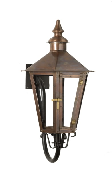 Kensington goose neck wall lantern