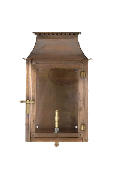 Colonial flush mount wall lantern