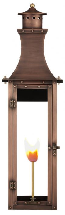 Bishop Wall Mount Copper Lantern by Primo