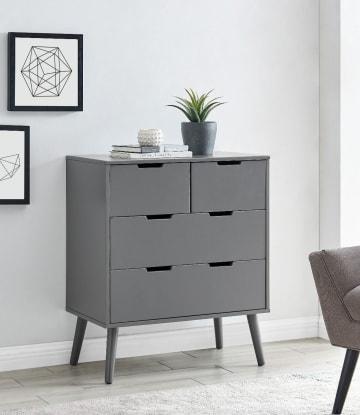 Alma Medium Grey Chest of Drawers