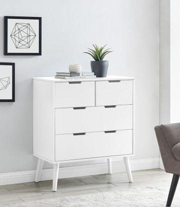 Alma Medium White Chest of Drawers