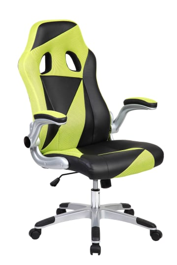 Green & Black Triangles Racing Sports Style Office Computer Desk Chair