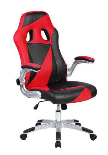 Red & Black Triangles Racing Sports Style Office Computer Desk Chair