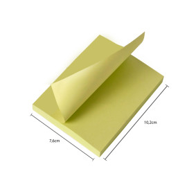 Post It 657 Amarelo 76mmx102mm 100fls 1bl   3 M