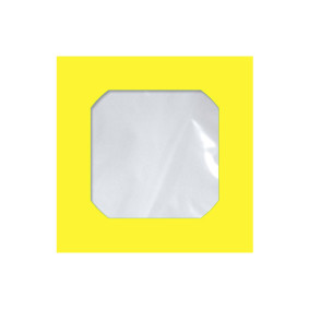 Envelope P/Cd E Dvd Cmd 105 Amarelo C/Visor Pct C/25   Scrity
