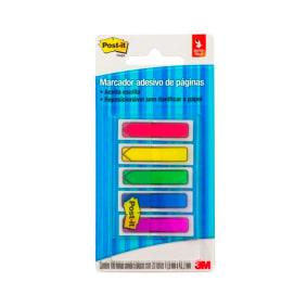 Post It Flags Setas 5 Cores Sortidas 11,9 X43,2 Mm C/100 Fls 684 Arr1 Br   3 M