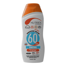Creme Protetor Solar Facial Fps 60 120 Ml   Nutriex