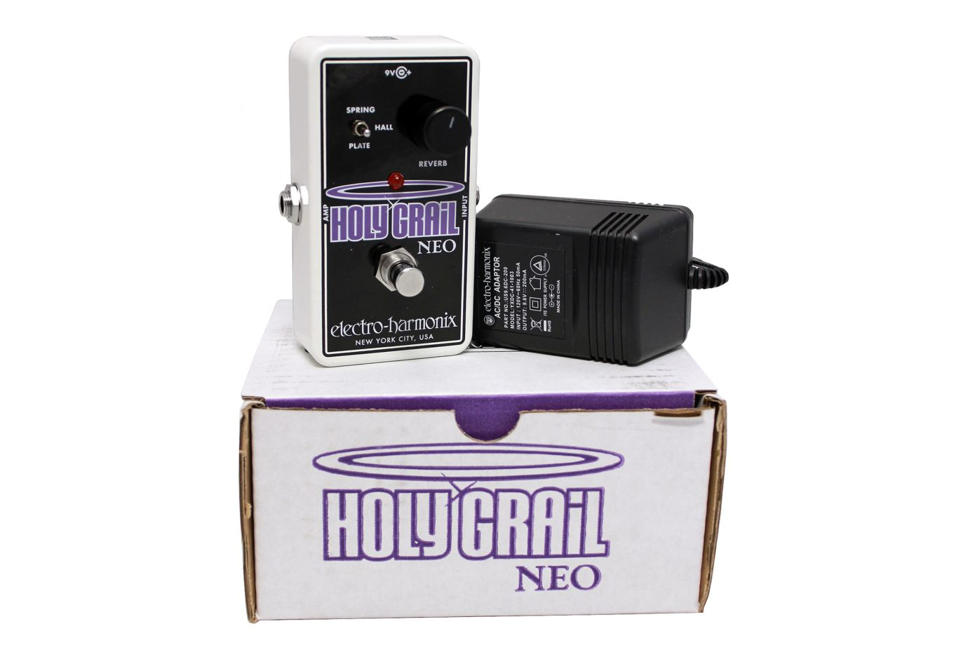 electro harmonix holy grail neo reverb pedal w power supply. Black Bedroom Furniture Sets. Home Design Ideas