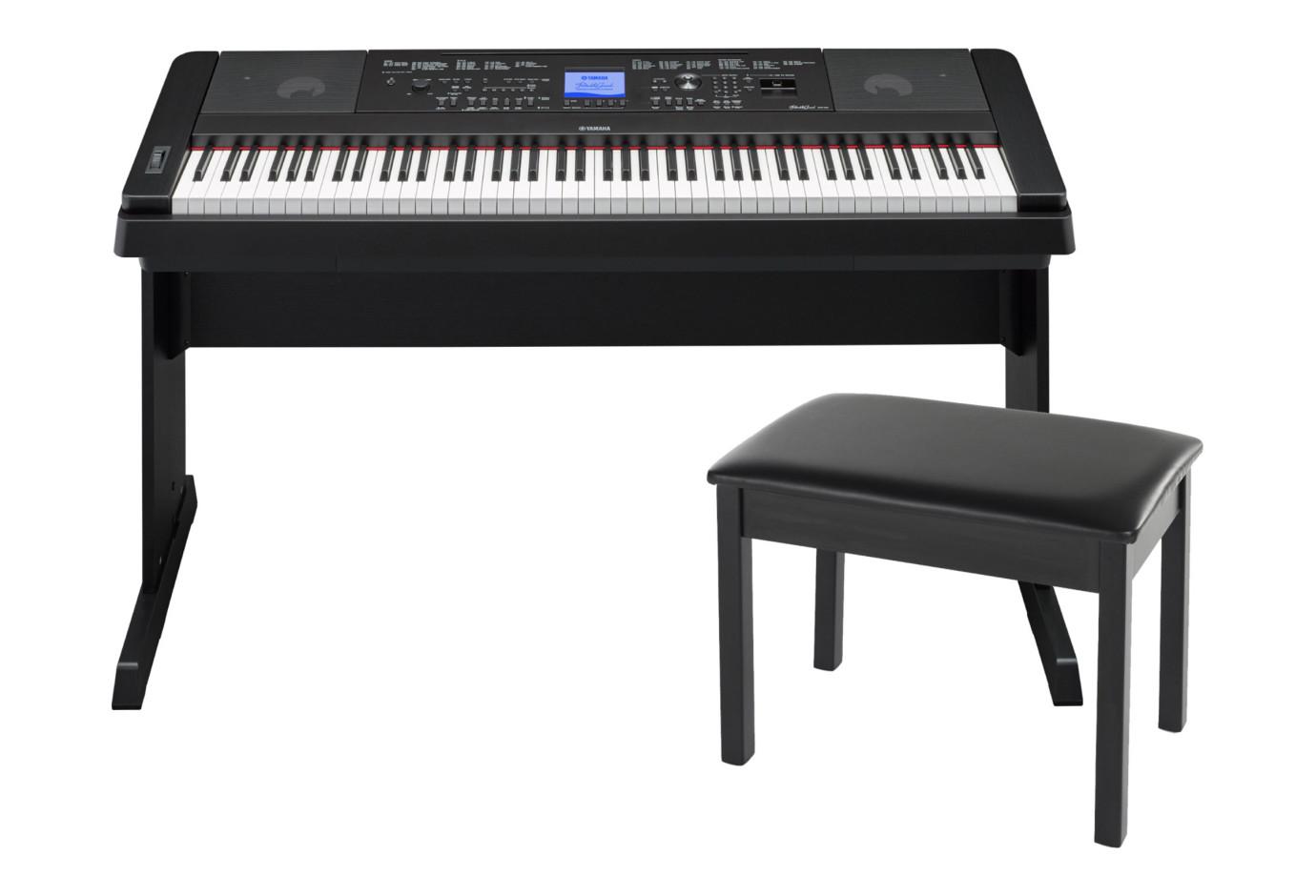 Yamaha dgx 660 88 key black digital piano bundle for Yamaha 660 keyboard