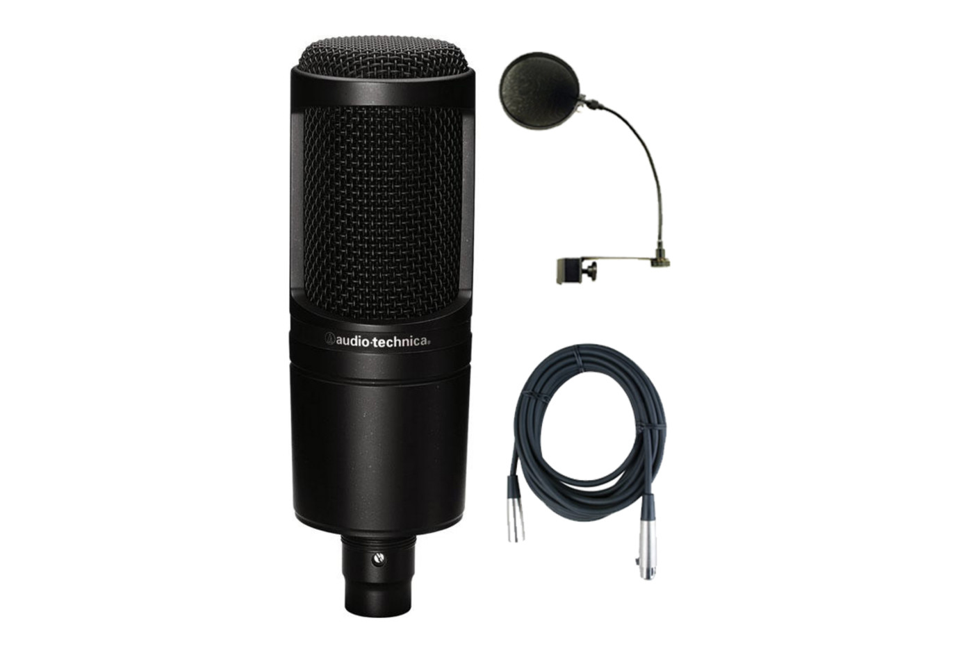 audio technica at2020 studio microphone bundle. Black Bedroom Furniture Sets. Home Design Ideas