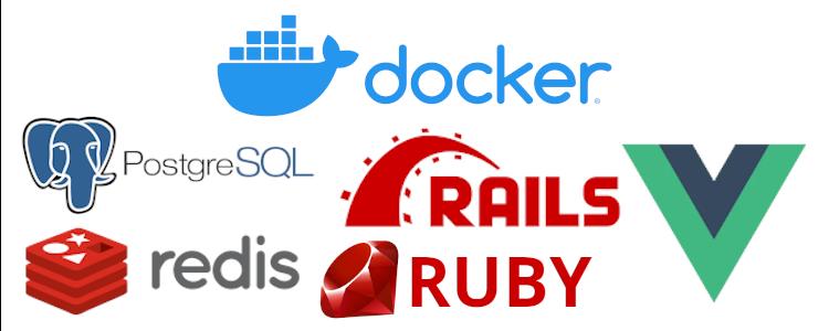 Dockerizando uma aplicação ruby on rails com postgresql, redis e vue.js