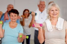 Seniors fitness class at Better, Wadebridge Leisure Centre