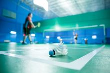 Badminton sessions taking place