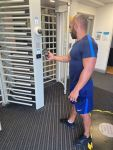 Member scanning into the gym with our new smart app access