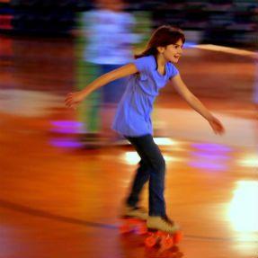 Kids rollerskating