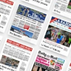 Online resources selection of newspapers