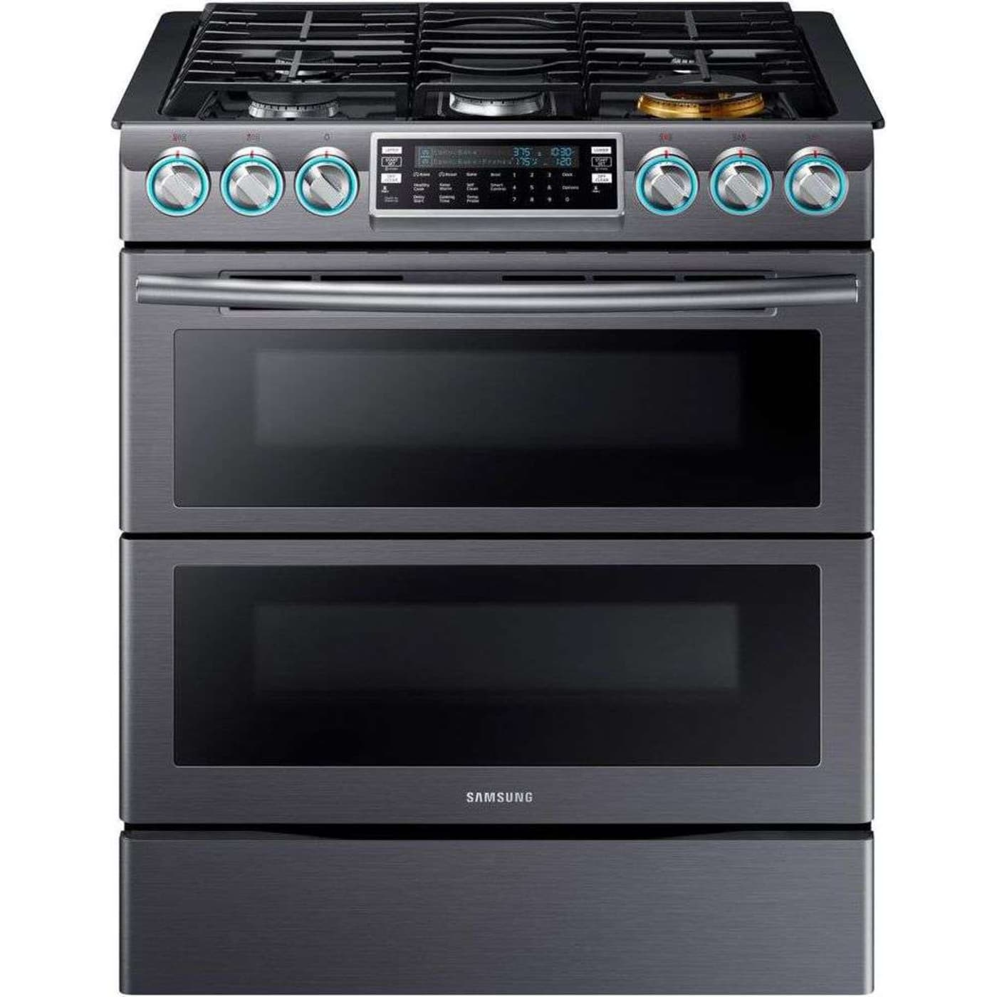 "Samsung NX58K9850SG 30"" Black Stainless Steel Gas Sealed Burner"