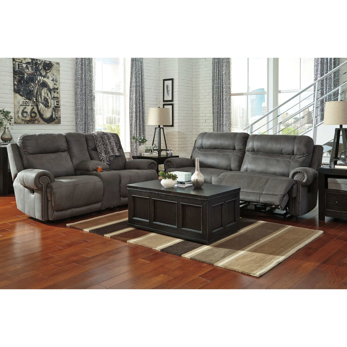 best living room sets signature design by austere gray 2 seat reclining 13796