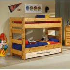 Chelsea Home Cinnamon Twin Over Twin Bunk Bed