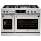 "Capital Culinarian 60"" Stainless Steel Liquid Propane Open Burner Double Oven Range - Convection"