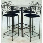 "Grace Collection Deep Bronze 24"" French Traditional Counter Stool"