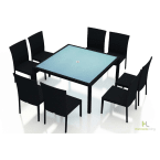 Harmonia Living Urbana 9-Piece Square Dining Set without Cushions