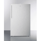 """Summit 20"""" 4.1 cu. ft. Stainless Steel Undercounter Compact Refrigerator"""