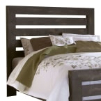 Progressive Willow Distressed Black Queen Slat Headboard