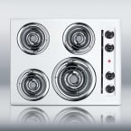 "Summit 24"" White Electric Coil Cooktop"