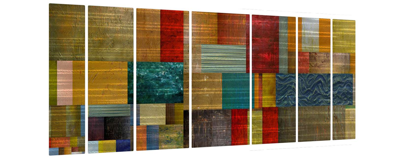 "23.5"" x 66"" ""Pieces V"" Metal Wall Art by Michelle Calkins"