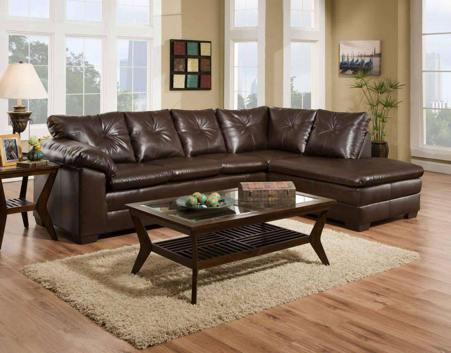 Rho Cowboy Brown 2-Piece Sectional