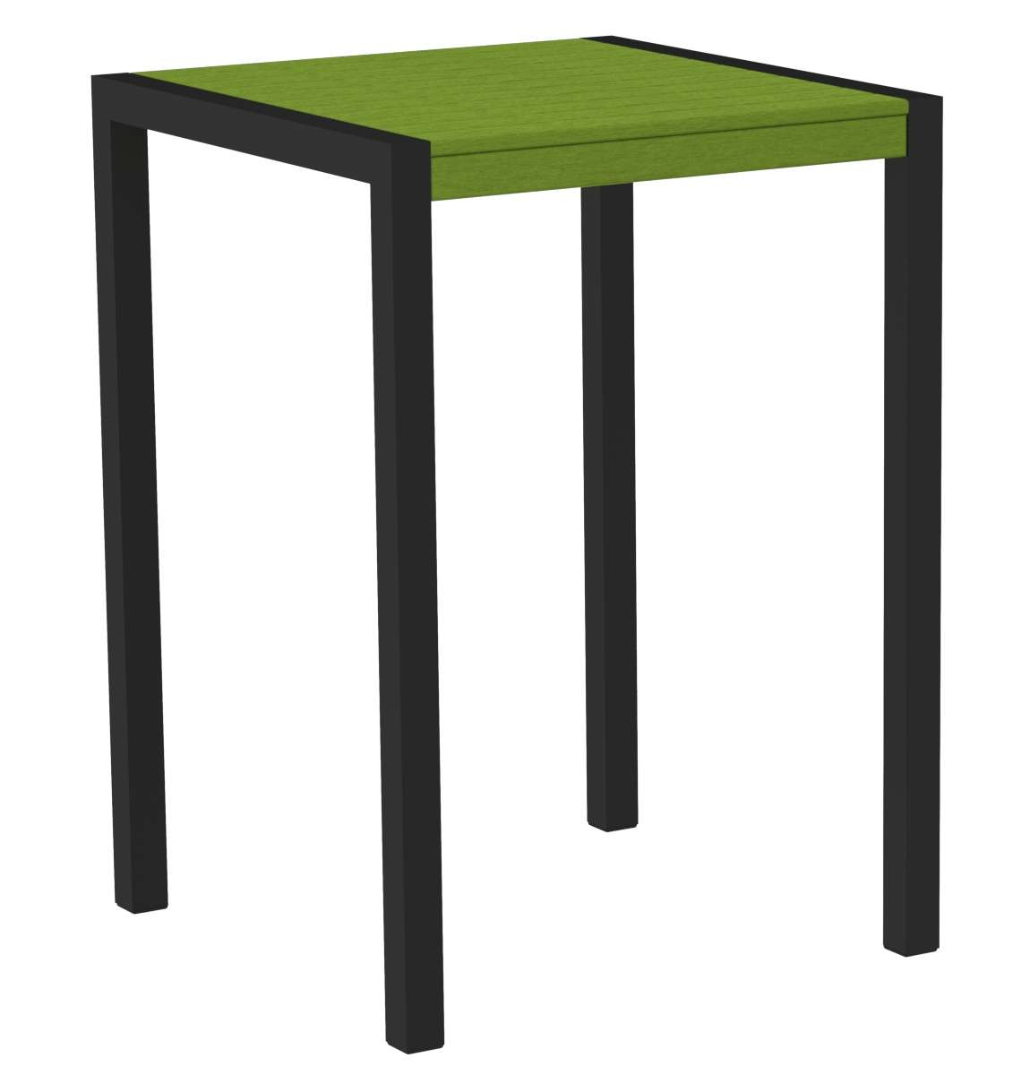 "MOD Textured Black/Lime 30"" Outdoor Bar Table"