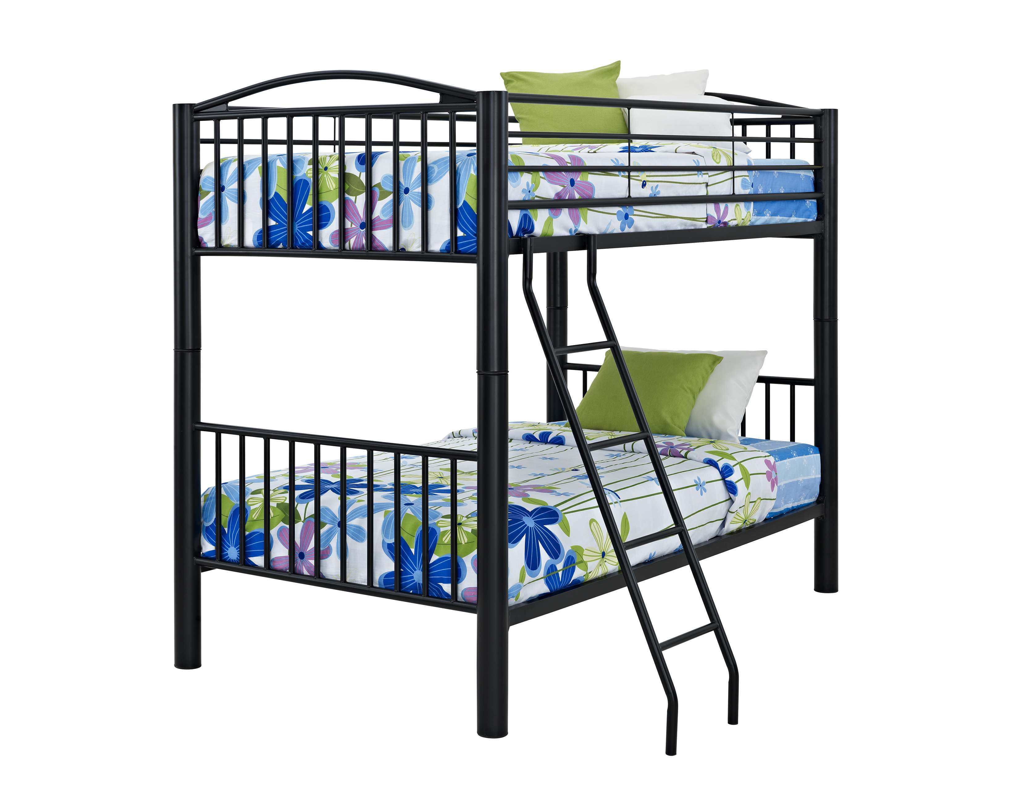 Black Heavy Metal Twin Over Twin Bunk Bed