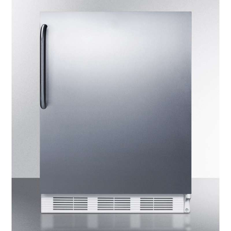 "24"" 5.1 cu. ft. Stainless Steel Undercounter Built-In Compact Refrigerator"