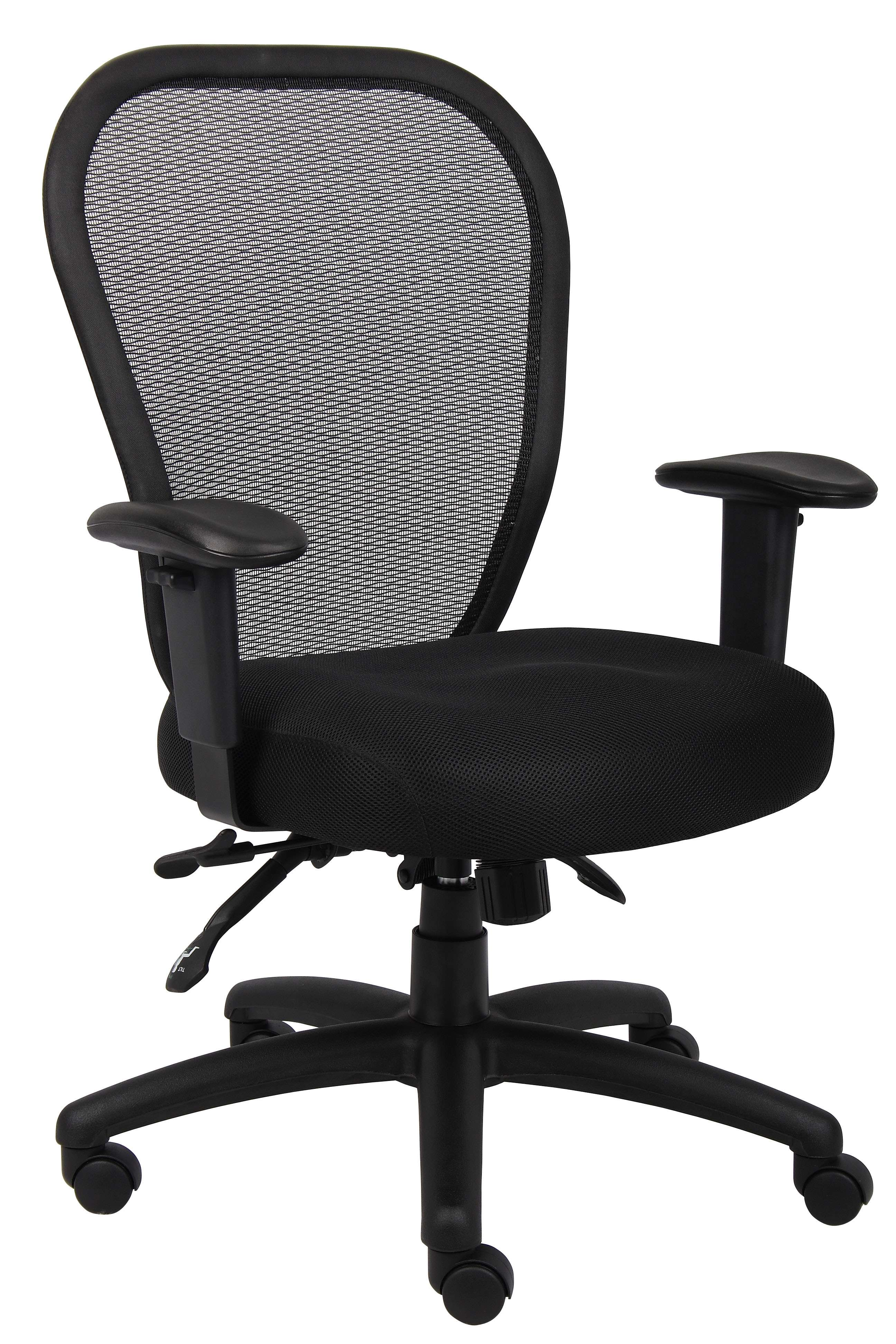 Black Mesh Chair with 3 Paddle Mechanism