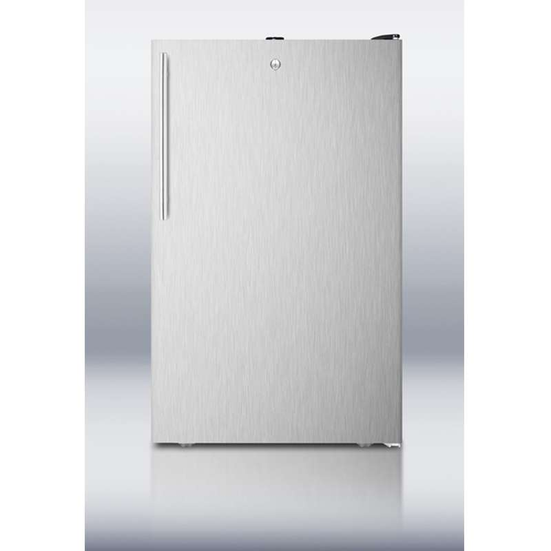 """20"""" 4.1 cu. ft. Stainless Steel Undercounter Compact Refrigerator - ADA Compliant"""