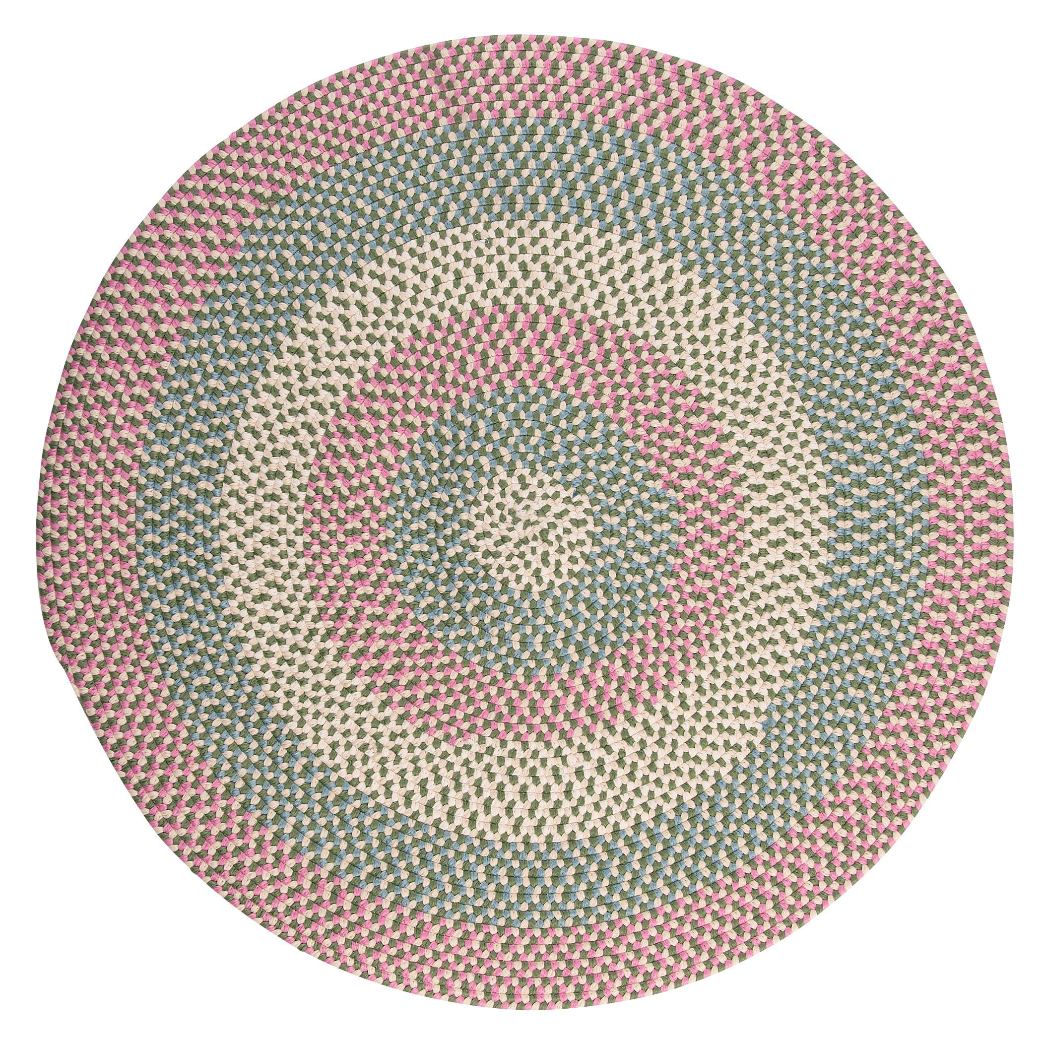 Carousel Bubble Green 8' Round Rug