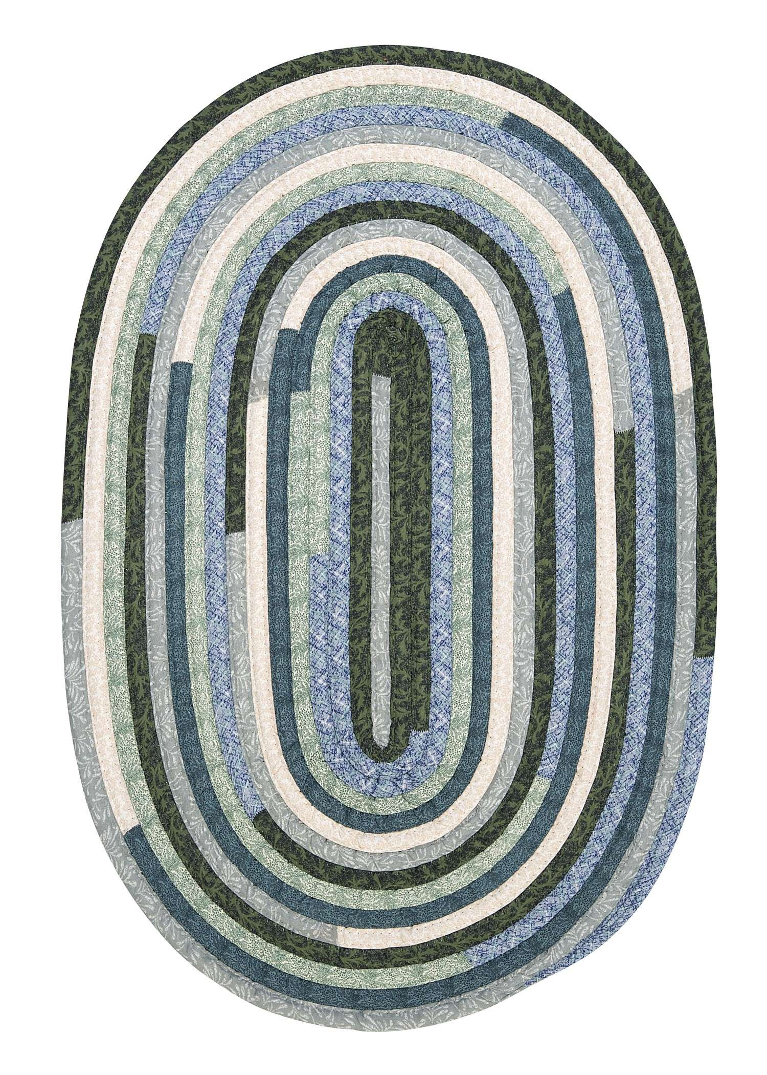 Quilter's Choice Seafoam 10'x13' Oval Rug
