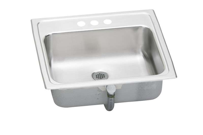 Asana Stainless Steel Drop In Steel Bathroom Sink with 1 Faucet Hole