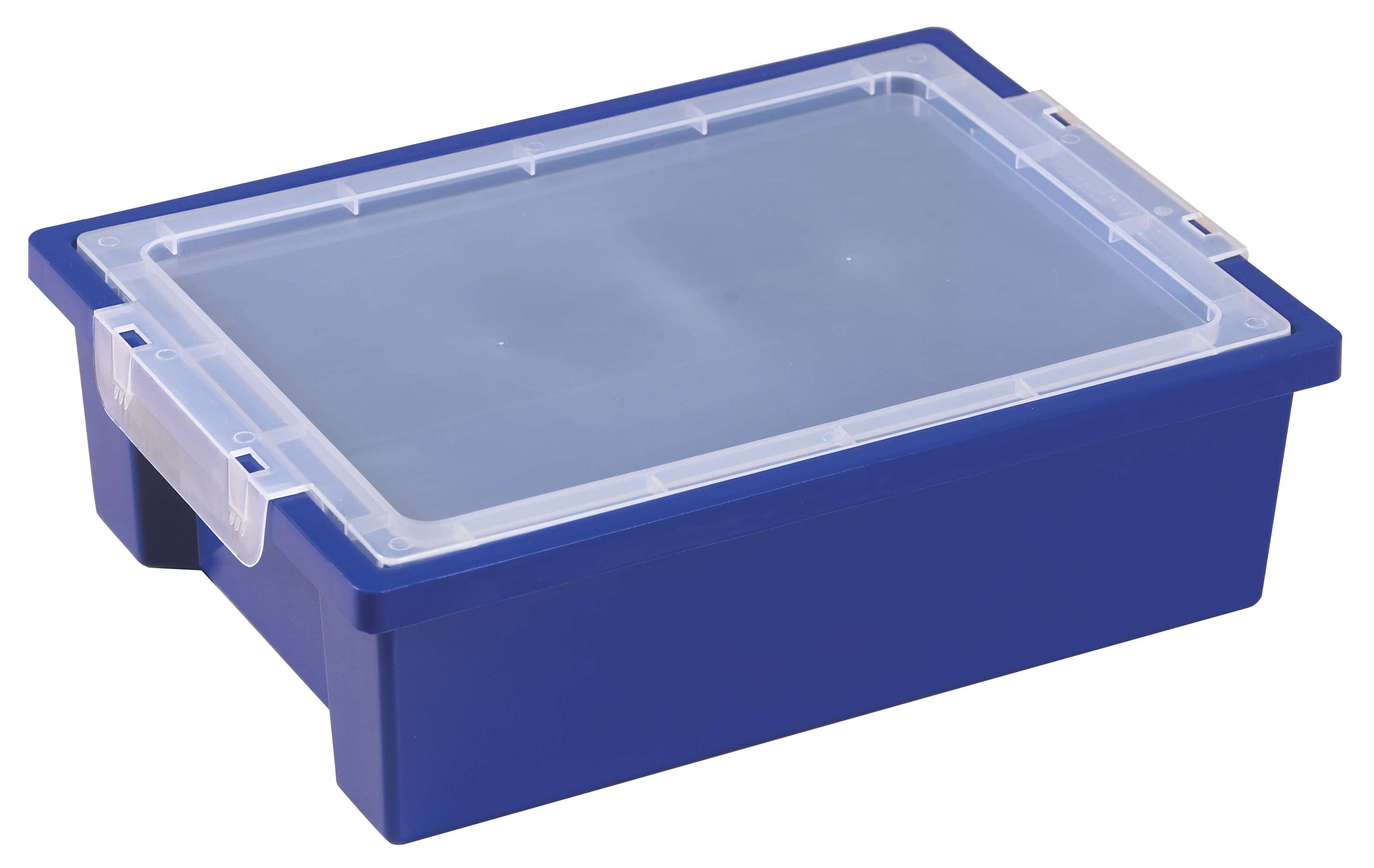 Small Storage Bins with Lid - Blue - Set of 6