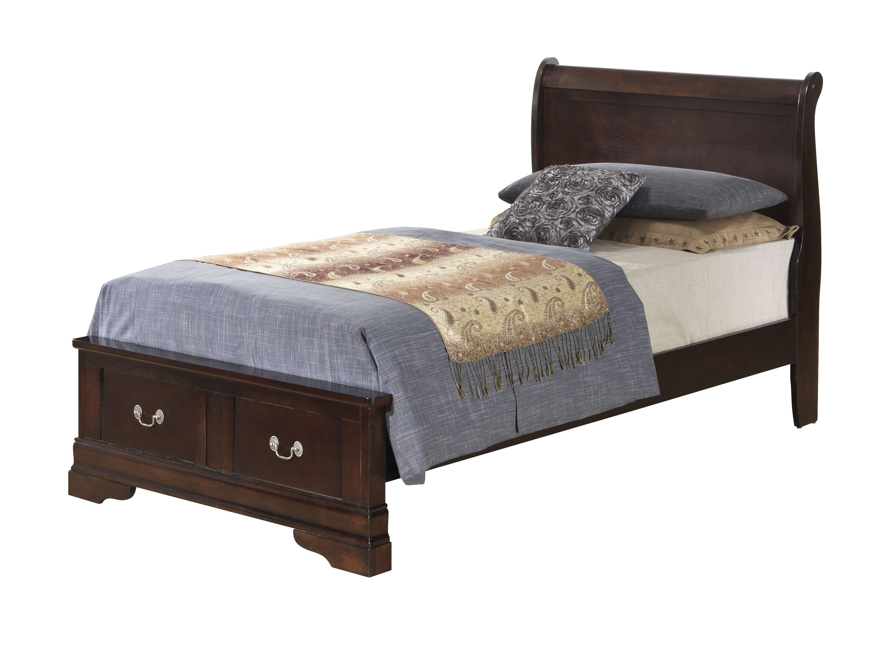 Cappuccino Twin Storage Bed